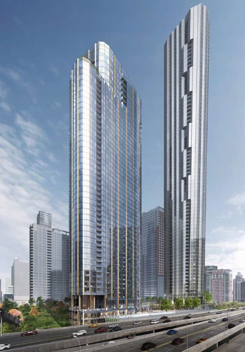 Three towers at Lakeshore East were approved Wednesday.