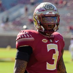 RS SO DB Derwin James during warm-ups