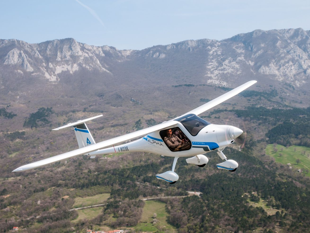 Pipistrel's Alpha Electro is one of the first production electric aircraft. Electrifying aviation is an important strategy for mitigating climate change.
