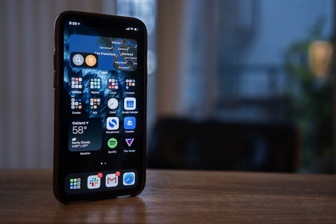 iOS 14 on the iPhone
