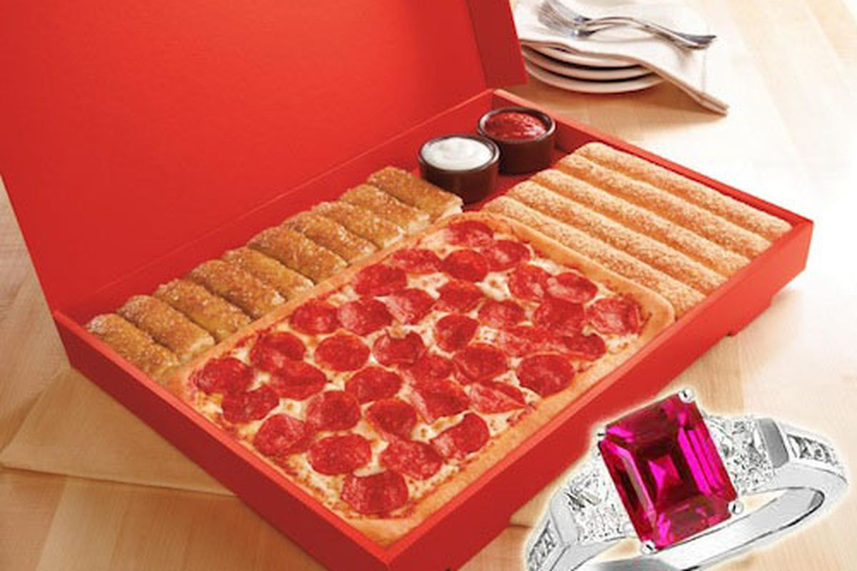 Pizza Hut S 10 000 Engagement Party Package Includes A Ring Fireworks And Pizza Eater