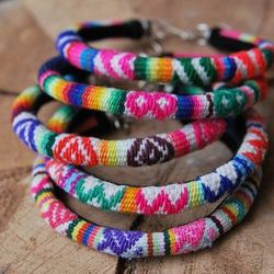 """Manta Inca Peruvian Bracelets, <a href=""""http://shop.oldhollywoodmoxie.com/collections/new-arrivals-for-the-gals/products/manta-inca-peruvian-bracelet"""">$12</a> at Old Hollywood"""