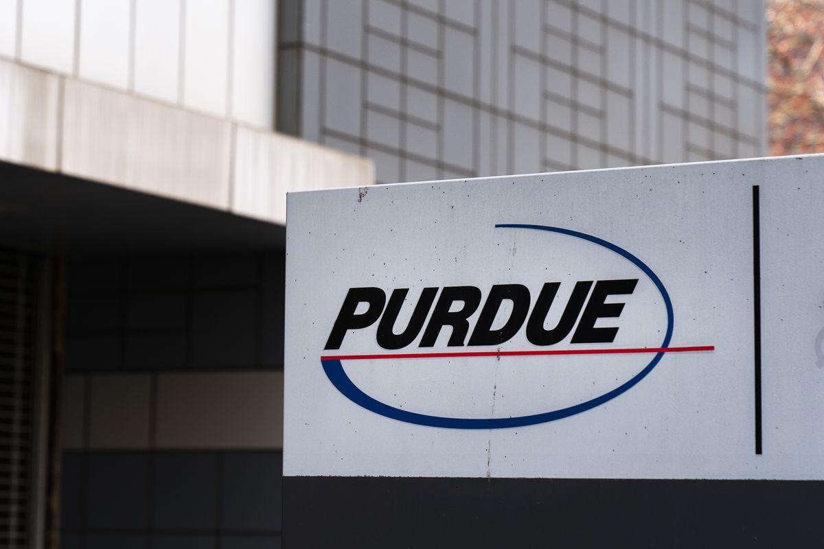 The headquarters of Purdue Pharma, maker of OxyContin.
