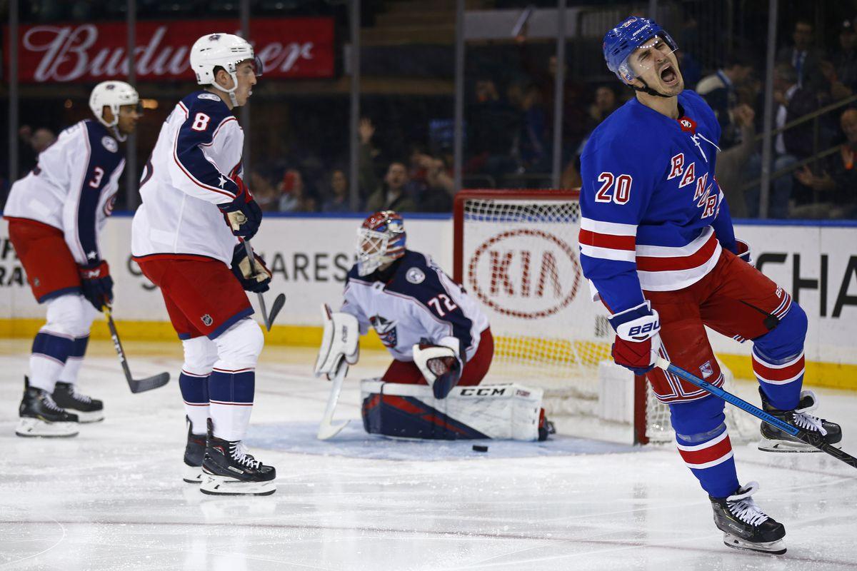 NHL: Columbus Blue Jackets at New York Rangers