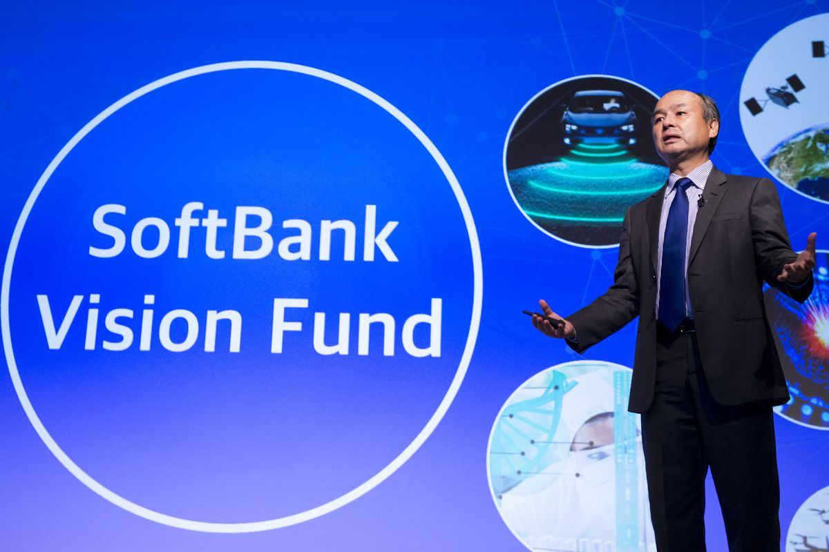 SoftBank Group Corp. founder, chairman and CEO Masayoshi Son announces his group earnings during a press conference in Tokyo, Japan, Aug. 7, 2017.