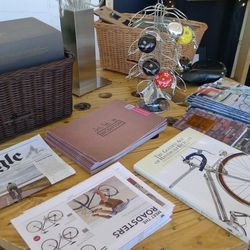 """<a href=""""http://www.bicyclespacedc.com"""">BicycleSPACE</a> set up shop outside."""