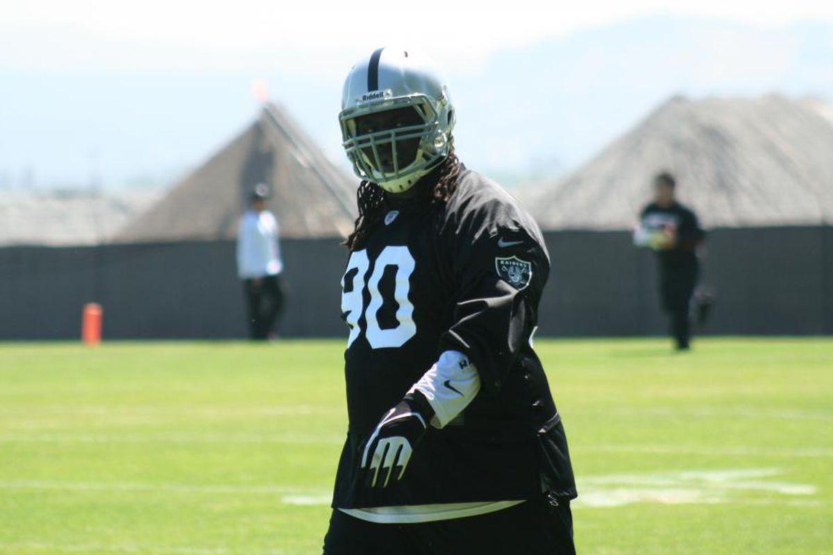 Defensive tackle Pat Sims at Oakland Raiders minicamp