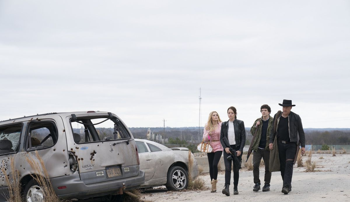 Madison (Zoey Deutch) joins the gang on a deserted highway.