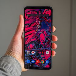 <em>This phone's 6.78-inch OLED screen is large and gorgeous, despite being FHD+ resolution.</em>
