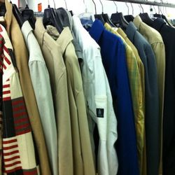 There are Steven Alan, Loden Dagger and Claiborne by John Bartlett mixed into the jackets.