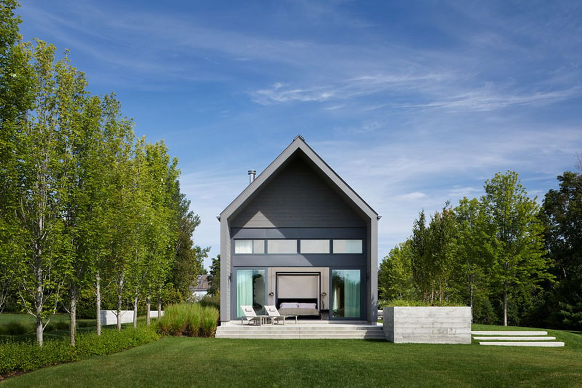 modern gabled vacation home