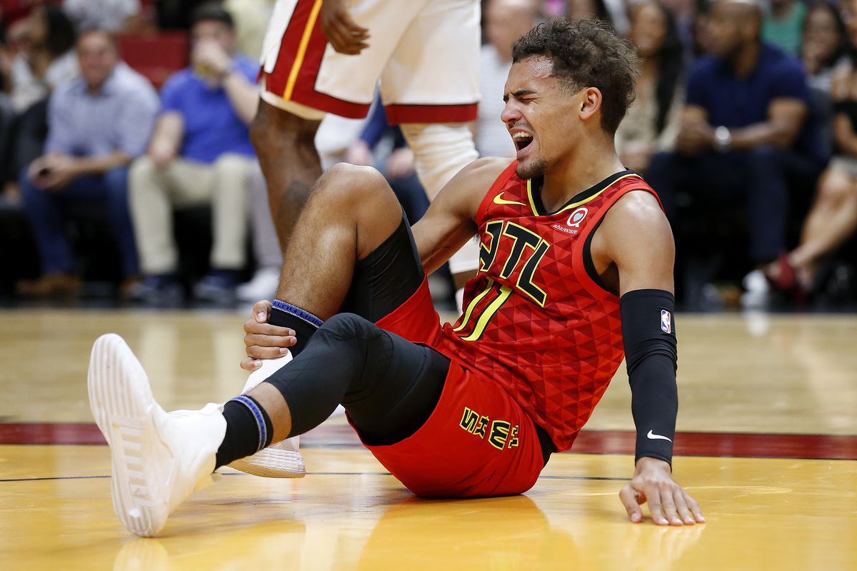 Trae Young Avoids Mri On Right Ankle Could Return Next Week