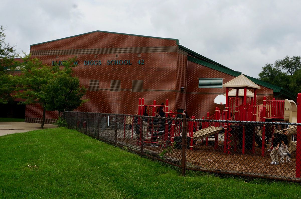 A neighborhood school northwest of downtown, School 42 enrolls over 500 students.