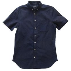 "<b>Mutiny</b> Wings + Horns Patchwork Sashiko Shirt in Indigo <a href=""http://shop.mutinydc.com/collections/frontpage/products/wings-horns-patchwork-sashiko-shirt-indigo"">$198</a>"
