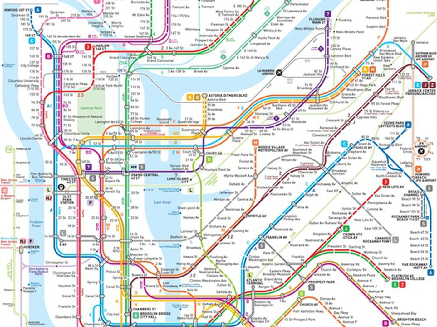 This New NYC Subway Map May Be The Clearest One Yet Curbed NY - Nyc map wallpaper