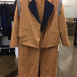 Coat that zips off into a jacket, $80