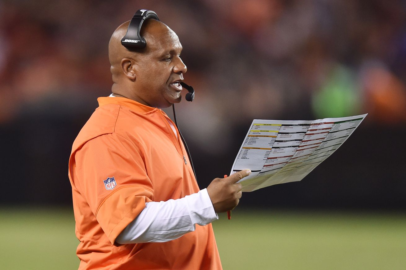Hue Jackson on the Browns' QB situation, who impressed on defense, and more
