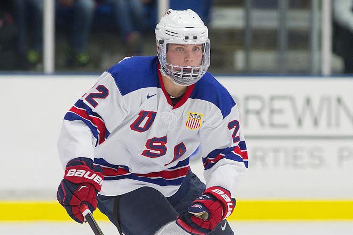 Boston University commit Kieffer Bellows of the USNTDP U-18 Team