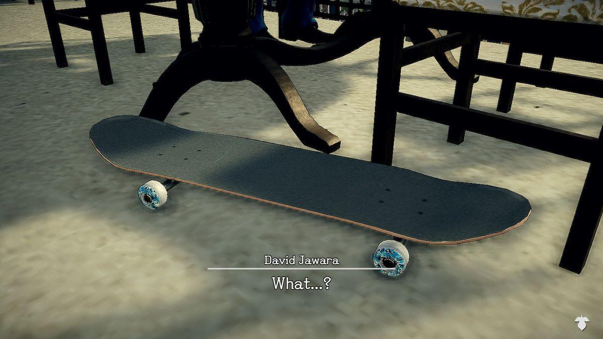 Agent York's skateboard in Deadly Premonition 2
