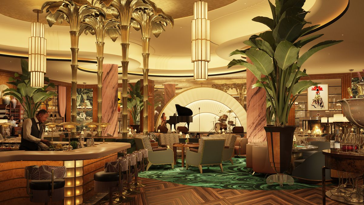 A rendering of the main dining room at Delilah