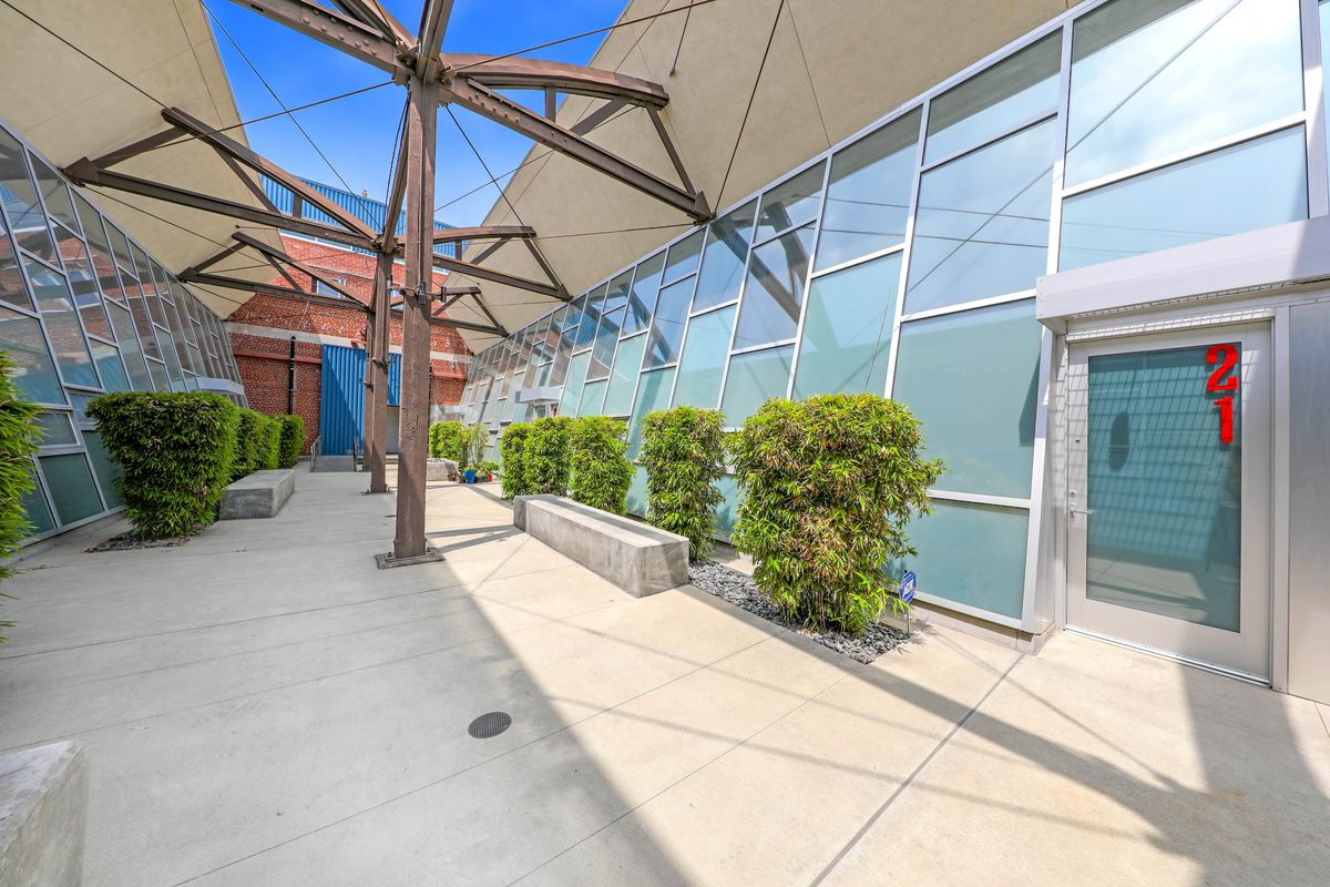 Courtyard outside unit