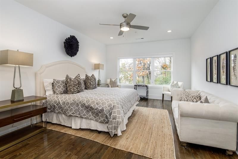 A large white master bedroom.