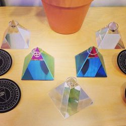 """Prismatic jewelry by Vancouver's <a href=""""http://www.armyofrokosz.com/""""target=""""_blank"""">Army of Roskosz</a>. (This was their first trade show!)"""