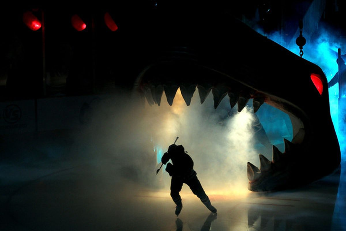 SAN JOSE, CA - No doubt the greatest sports entrance in all of pro sports. (Photo by Ezra Shaw/Getty Images)
