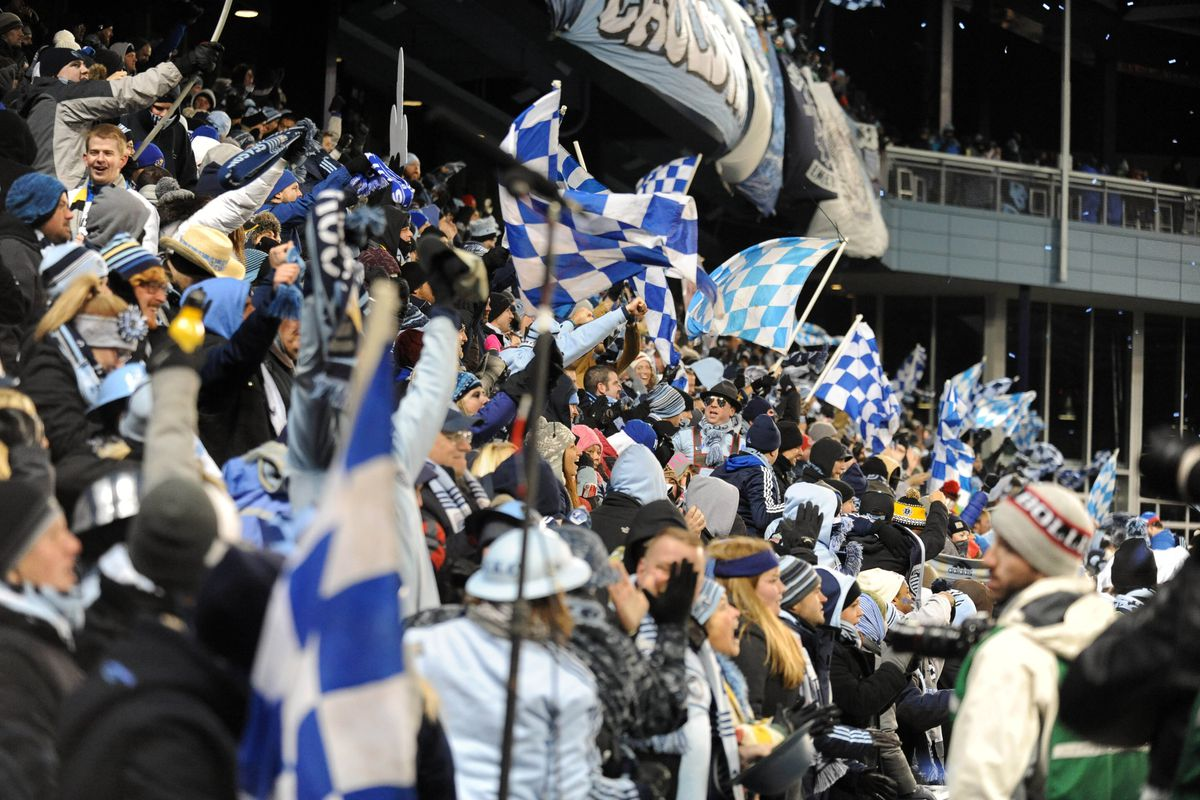 Fans fill the seats at Sporting Park, opened in 2011.