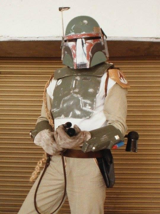 David Rhea in costume as Star Wars bounty hunter Boba Fett
