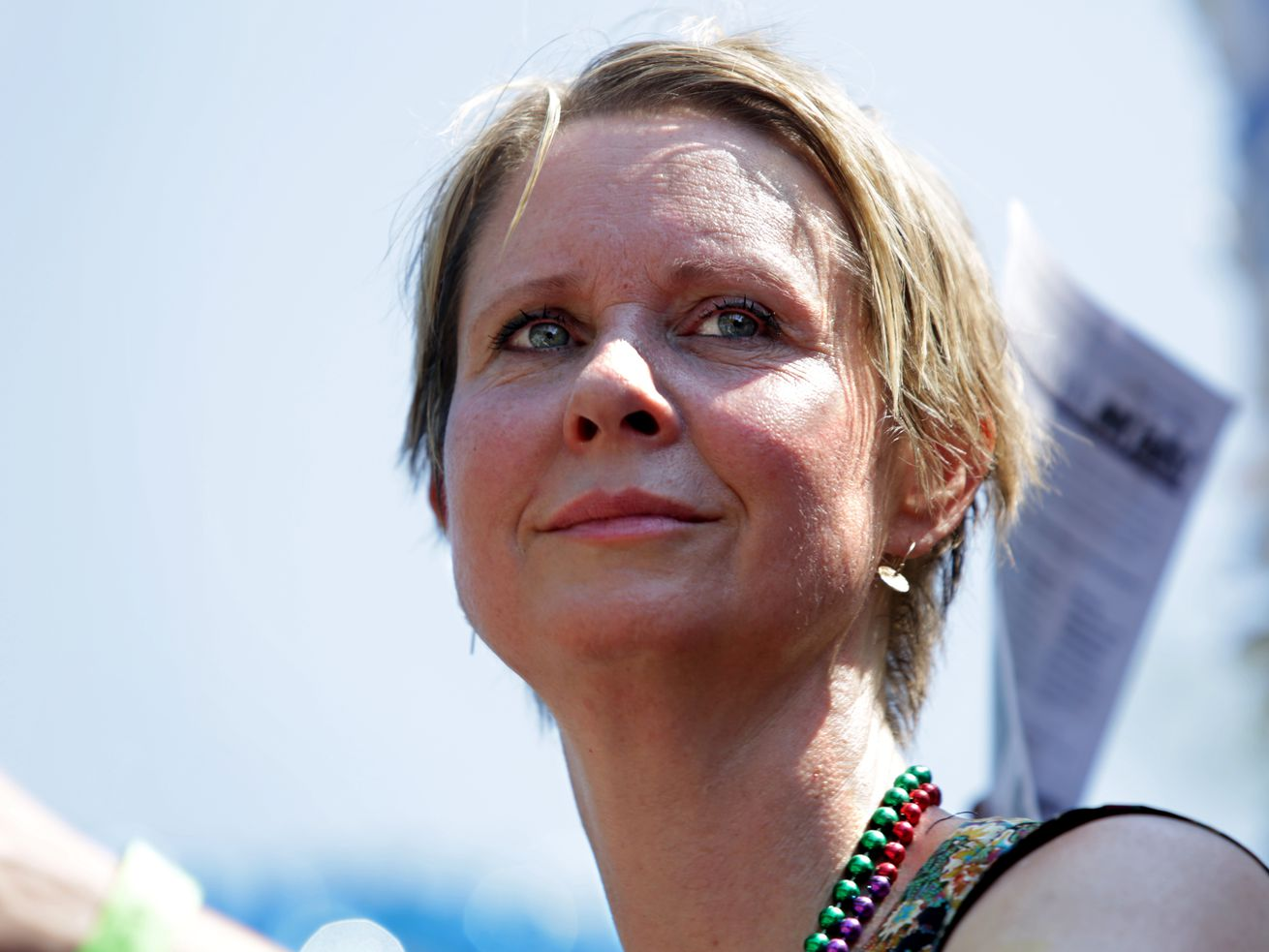 Actress and activist Cynthia Nixon, who is running against Gov. Andrew Cuomo in New York's Democratic primary.