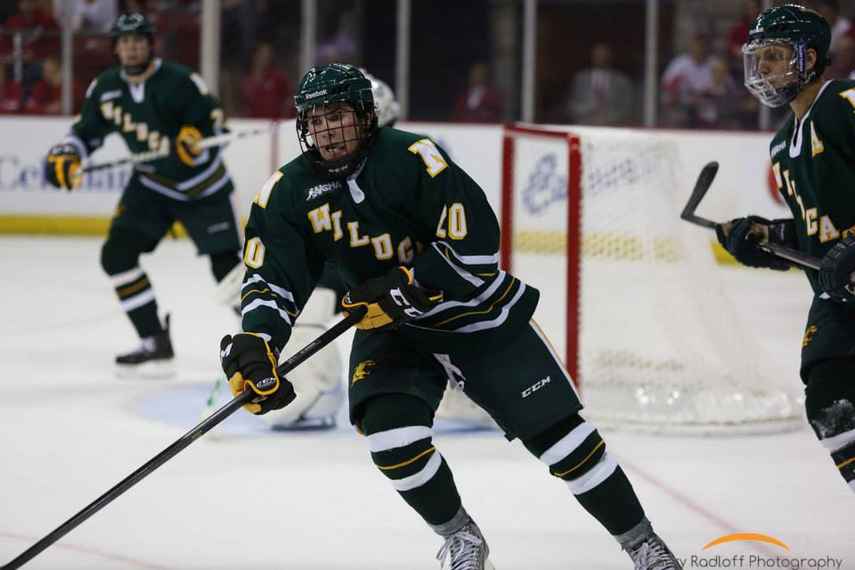 Darren Nowick scored Northern Michigan's second goal and helped the Wildcats defeat the Badgers.