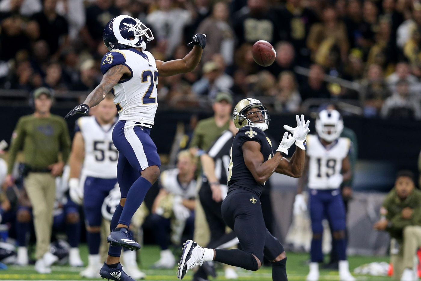 new product f0a80 62449 NFC Championship: Marcus Peters' gumbo grudge vs Sean Payton ...