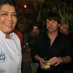 """Carmelita herself with Mark Oldman <span class=""""credit""""> [Photo: <a href=""""http://www.facebook.com/pages/Carmelitas-Caf%C3%A9/266813132740"""">Facebook/Carmelita's</a>]</span>"""
