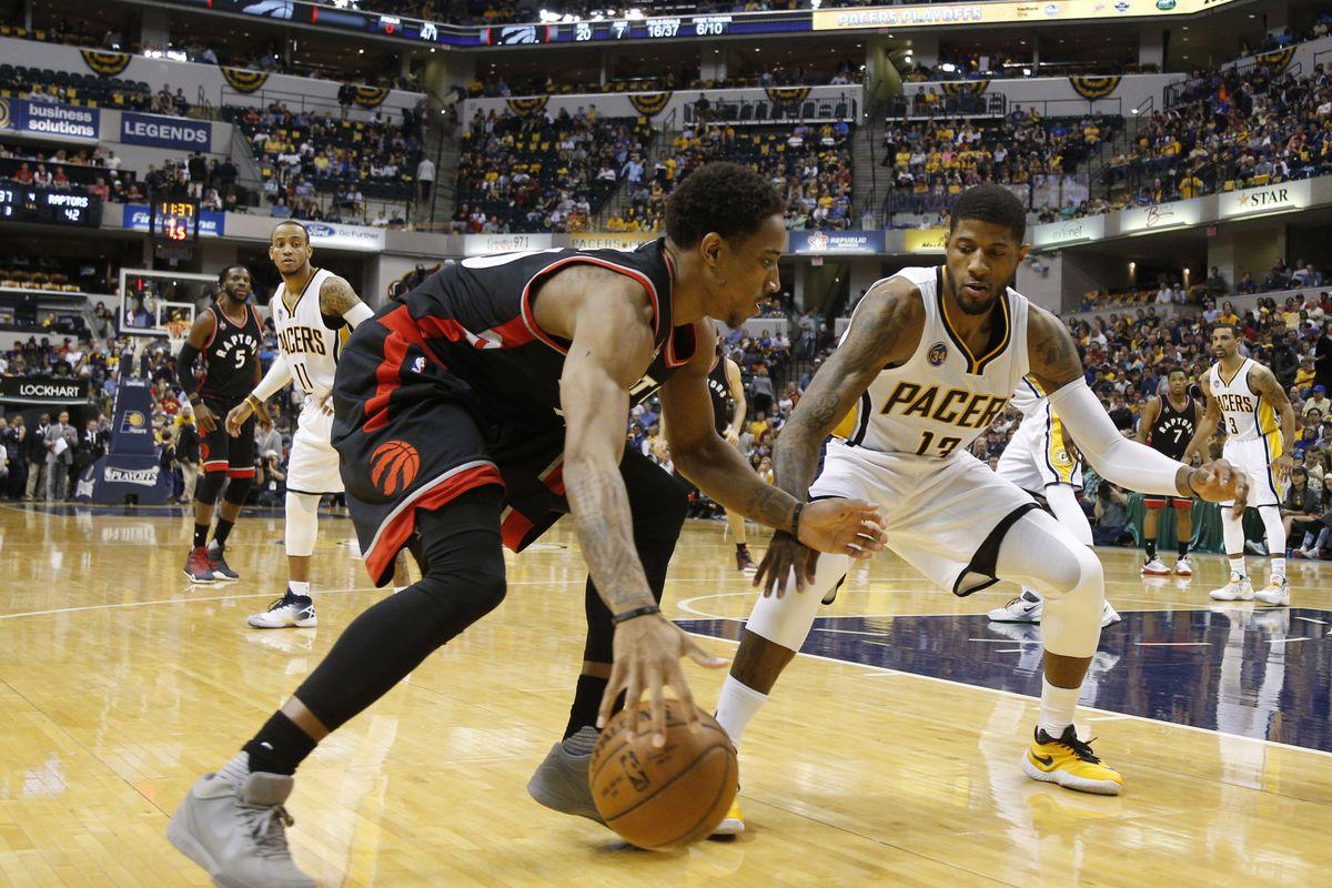 NBA: Playoffs-Toronto Raptors at Indiana Pacers