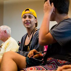 Emma Gonzalez at the March For Our Lives lives town hall meeting at The DuPage Unitarian Universalist Church, Naperville, June 16th, 2018. | James Foster/For the Sun-Times