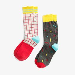 """<b>Richer Poorer for Poketo</b> socks, <a href=""""http://www.poketo.com/collections/highlow-jewelry-holiday-gift-guide/products/richer-poorer-for-poketo-socks"""">$12</a>"""