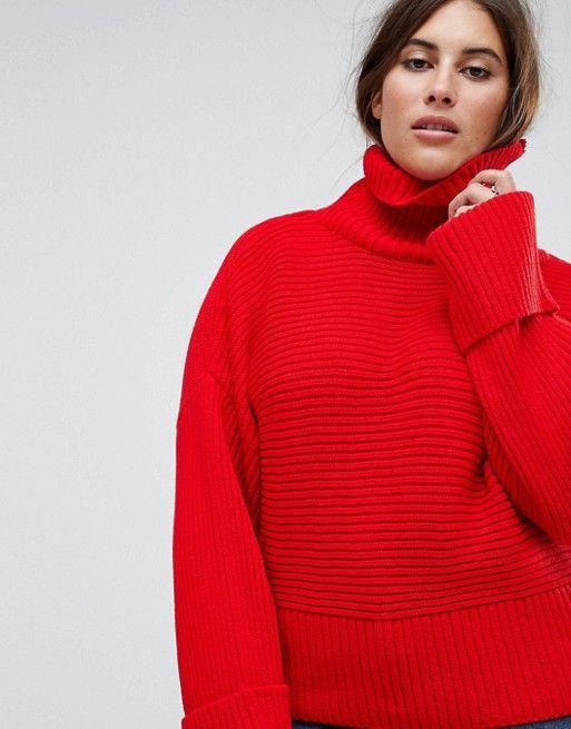 Boohoo Plus Roll Neck Sweater