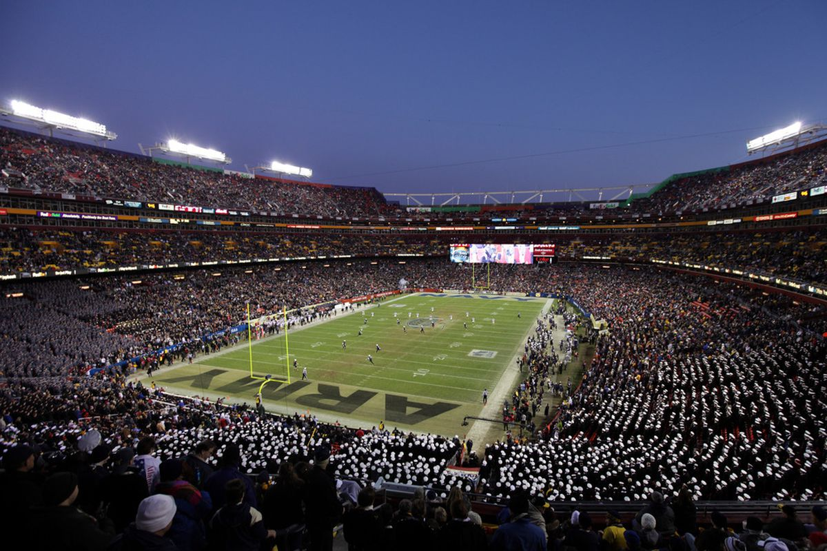 LANDOVER, MD - DECEMBER 10: The Army Black Knights kick off to the Navy Midshipmen during the second half at FedEx Field on December 10, 2011 in Landover, Maryland.  (Photo by Rob Carr/Getty Images)