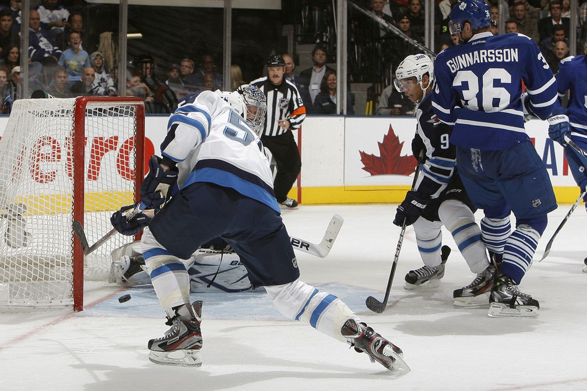 Scheifele with his first goal.  I like guys who have to smarts to get these kinds of goals; it's an under-appreciated skill to collect garbage goals.  But it still doesn't mean a guy's ready for the NHL.
