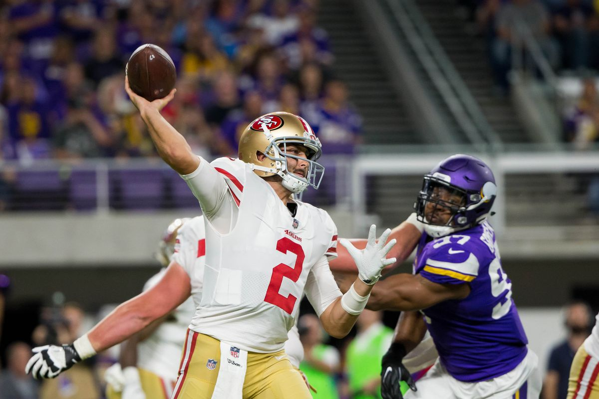 49ers Depth Chart 2017 Are They Better Worse Or The Same At Quarterback