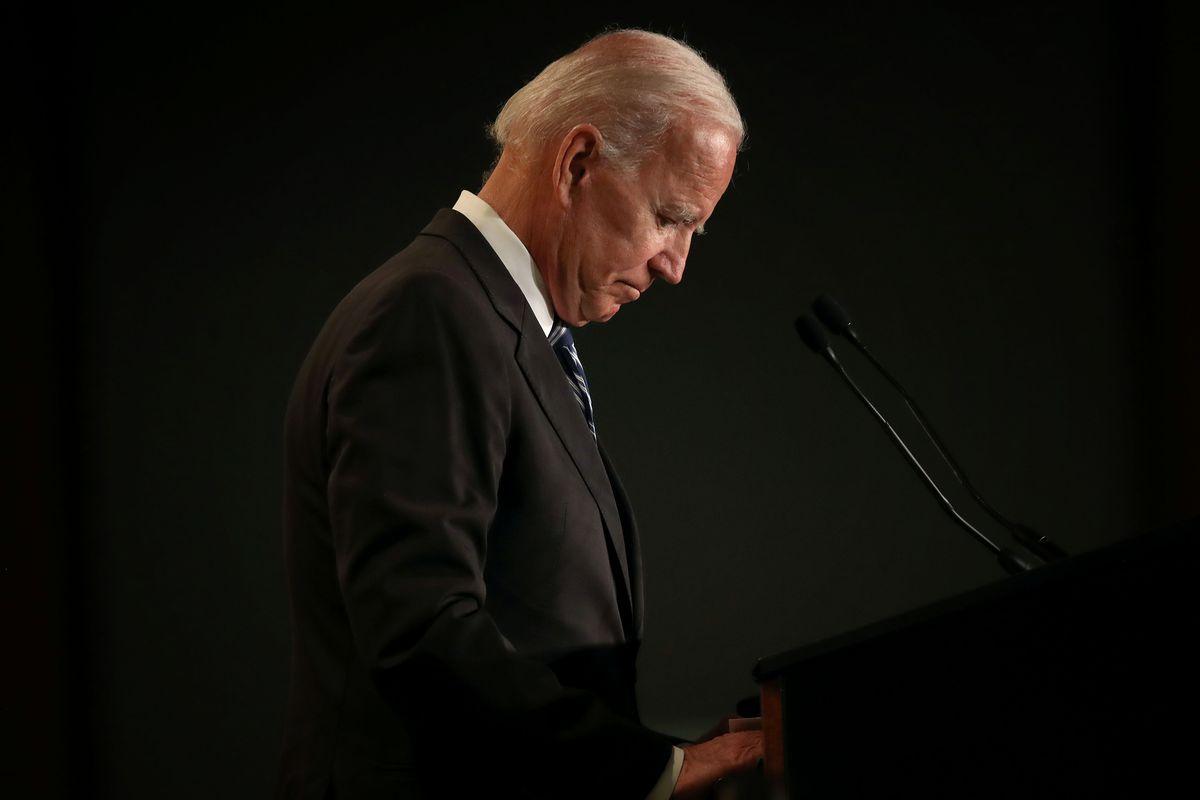 Joe Biden speaks at the International Association of Fire Fighters legislative conference on March 12, 2019.