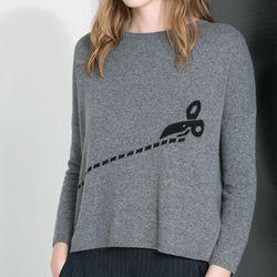 """<a href=""""http://www.zara.com/us/en/woman/knitwear/jacquard-sweater-with-scissors-c269190p1544021.html"""">Jacquard Sweater With Scissors</a>, $59.90 at Zara"""