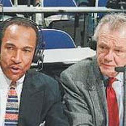 Ron Boone and Rod Hundley do a post-game show.