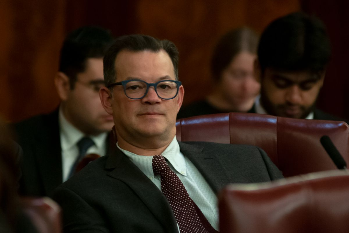 Councilmember Andrew Cohen (D-The Bronx) attends a 2019 City Council meeting.