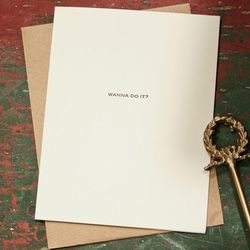 Foursided - Wanna Do It? Card ($5.50)