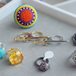 A variety of rings from the $25 bins