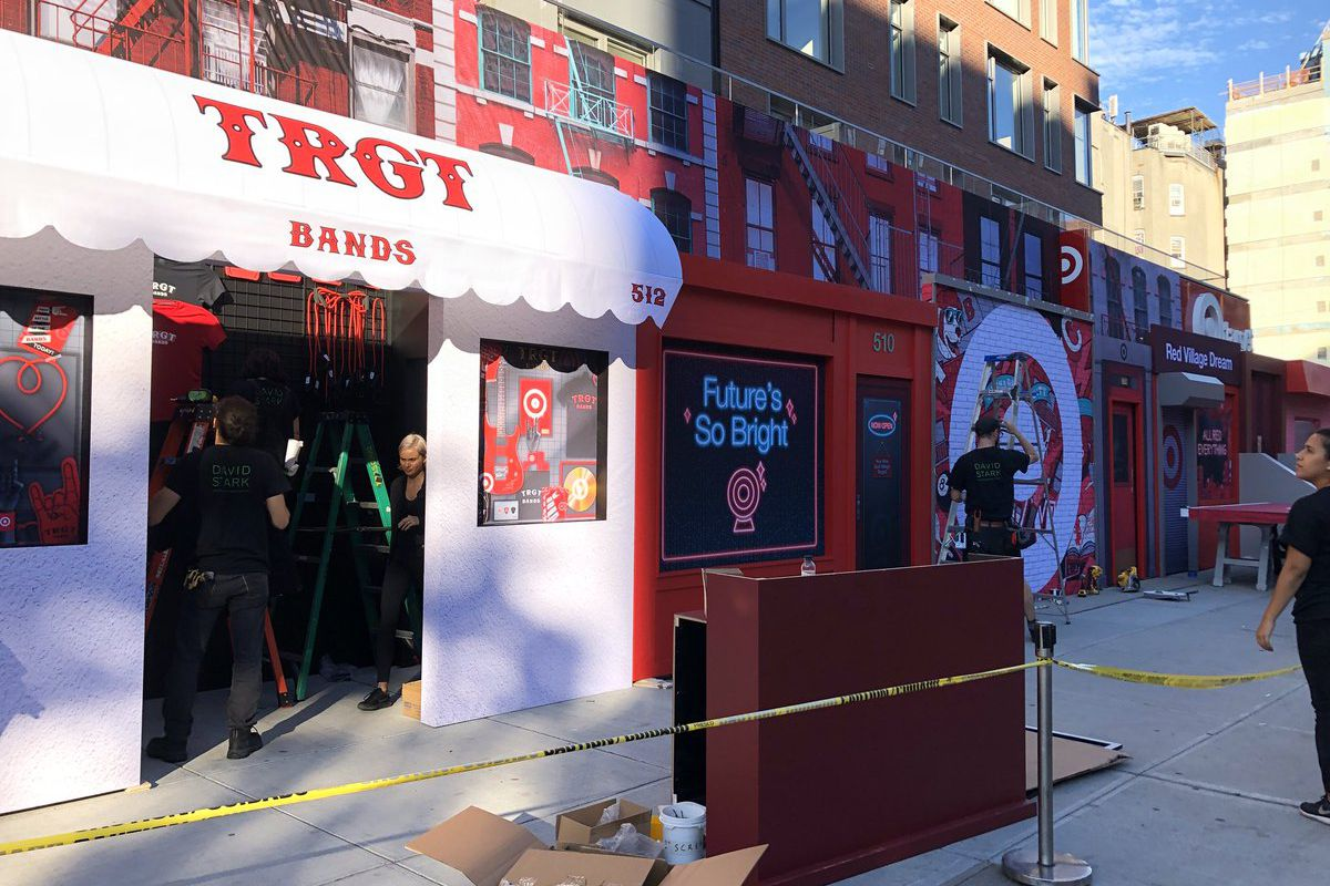 target s east village outpost debuts with cbgb themed storefront