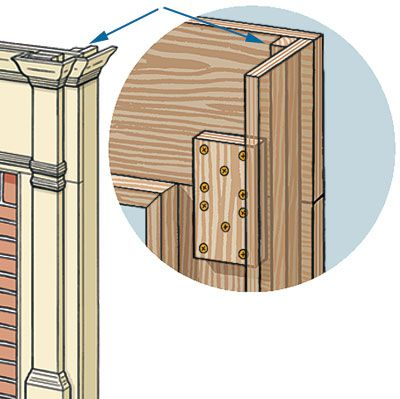 Illustration of the wood mantel assembly.