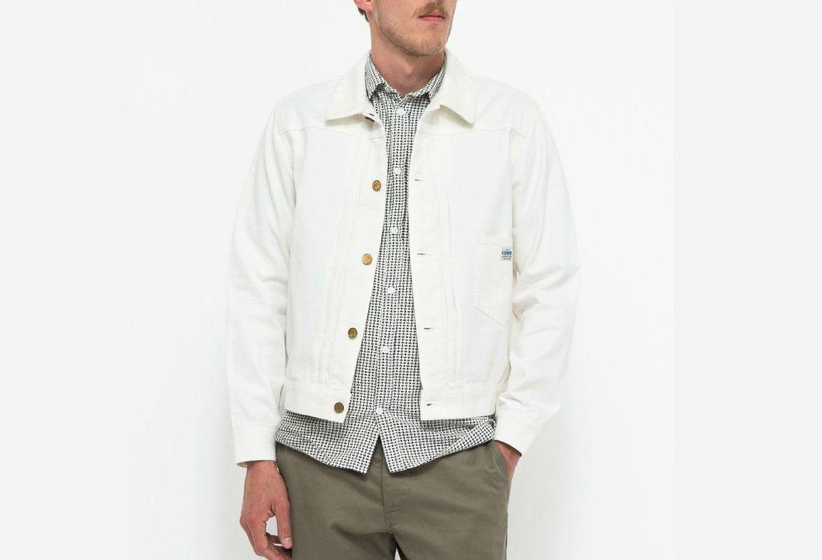 Neighborhood white denim jacket
